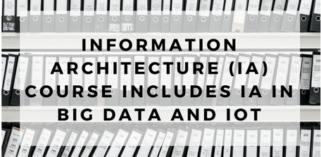 Information Architecture (IA) Course Includes IA in Big Data and IoT