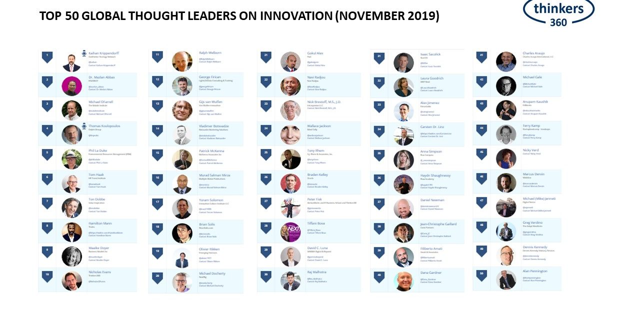 Top 50 Global Thought Leaders on Innovation