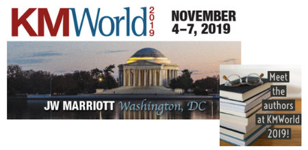 Meet the authors at KM World 2019