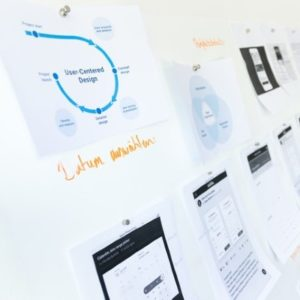 design images on a whiteboard