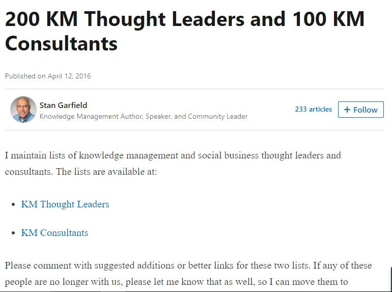 200 KM Thought Leaders
