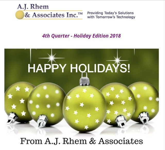 2018 Holiday newsletter
