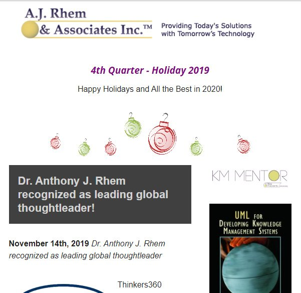 2019 Holiday newsletter