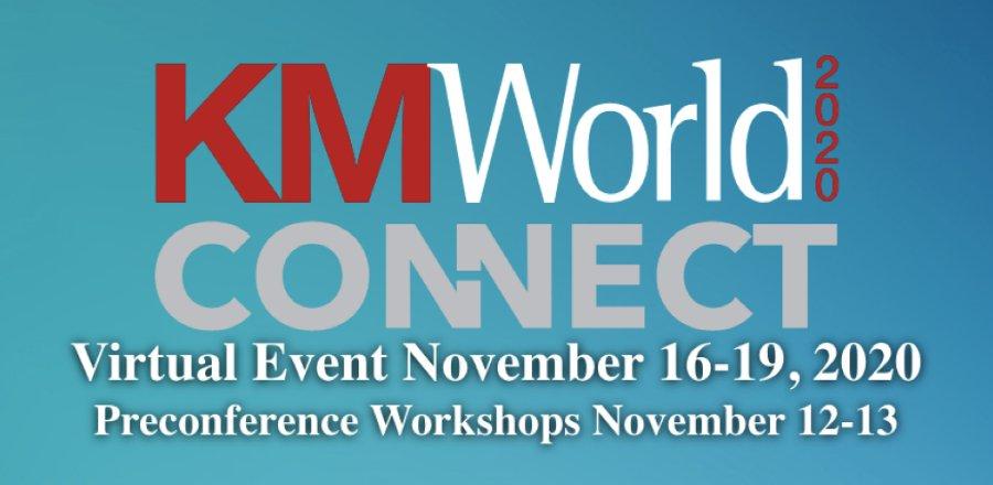 KM World Connect header
