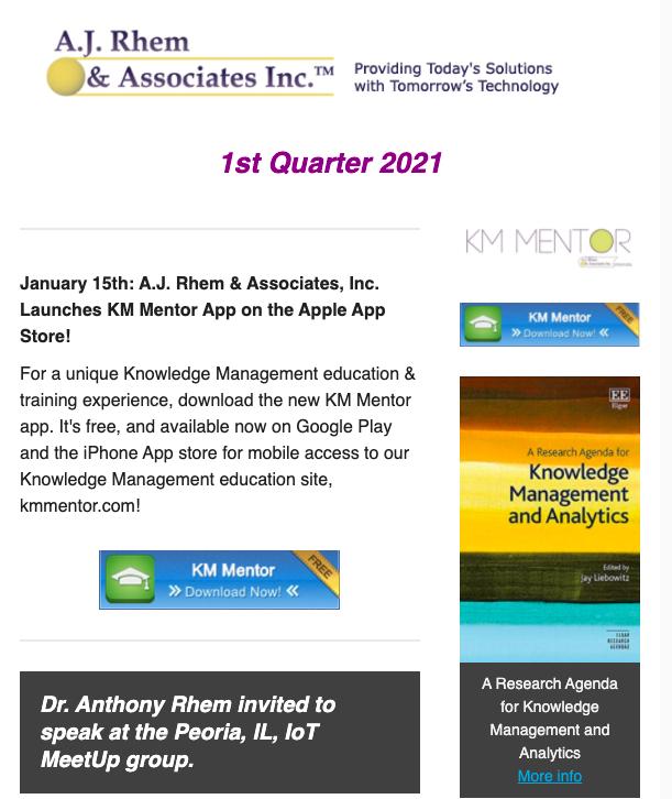 AJRA newsletter q1 2021
