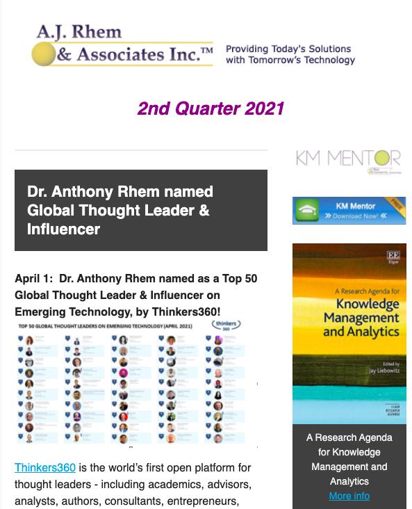 AJRA 2nd quarter 2021 newsletter cover